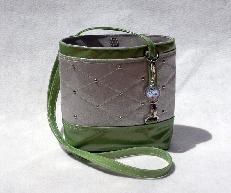 Vegan Handbag Gift For her Lime Handbag Crossbody Bag Glitter image 0