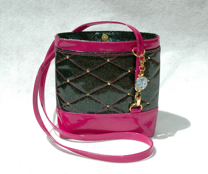 Vegan Handbag Hot Pink Handbag Gift for her Crossbody Bag image 0