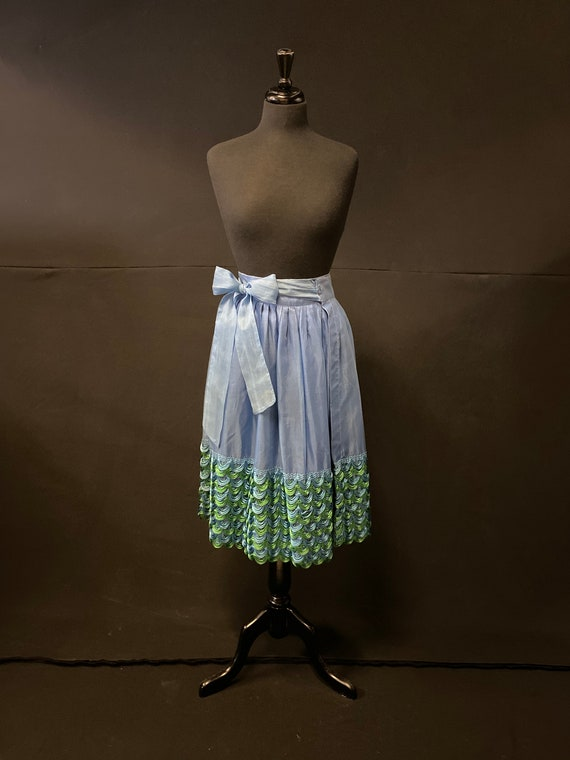 1950's French Tulle Wrap Waisted Skirt