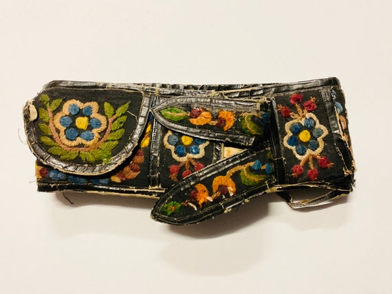 1930s European Folk Belt Hand Embroidered
