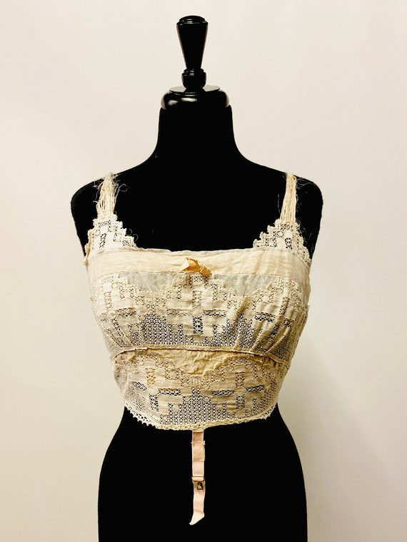 1920's Victorian American Lingerie Lace Camisole