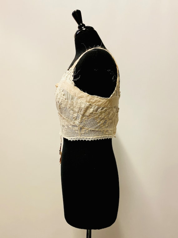 1920's Victorian American Lingerie Lace Camisole - image 3