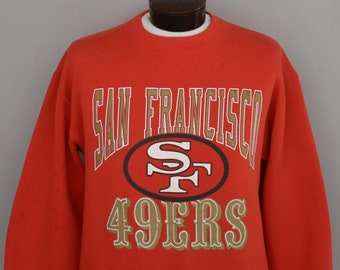 83b9a06a San Francisco 49ers Sweatshirt, Vintage 90s SF 49ers Pullover, 1990s  Distressed NFL Jumper, Size Large to XL