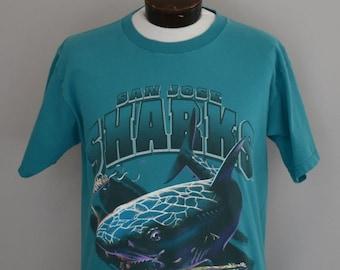 reputable site 66506 9291c 90s san jose sharks   Etsy