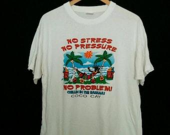 Vintage 80s Brasil Parrot T-shirt, 1980s Brazil Tropical Souvenir Crewneck Tee, Men's Size Large to X Large