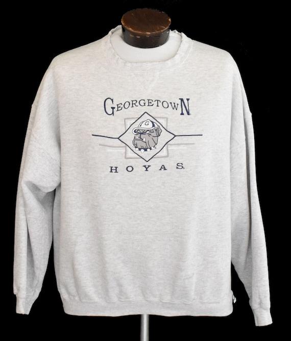 Georgetown University Sweatshirt, Vintage 90s Hoya