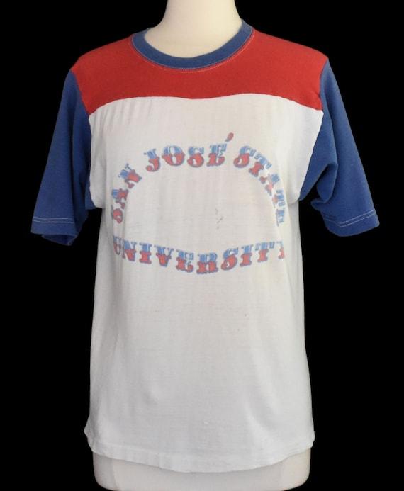 Vintage Phys Ed T-shirt, 50s High School Gym Tee,