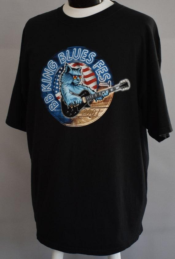 Musique Vintage Tee Festival, BB King T-shirt, chemise Blues de Blues chemise Fest, surdimensionné, taille XL à XXL 617cba