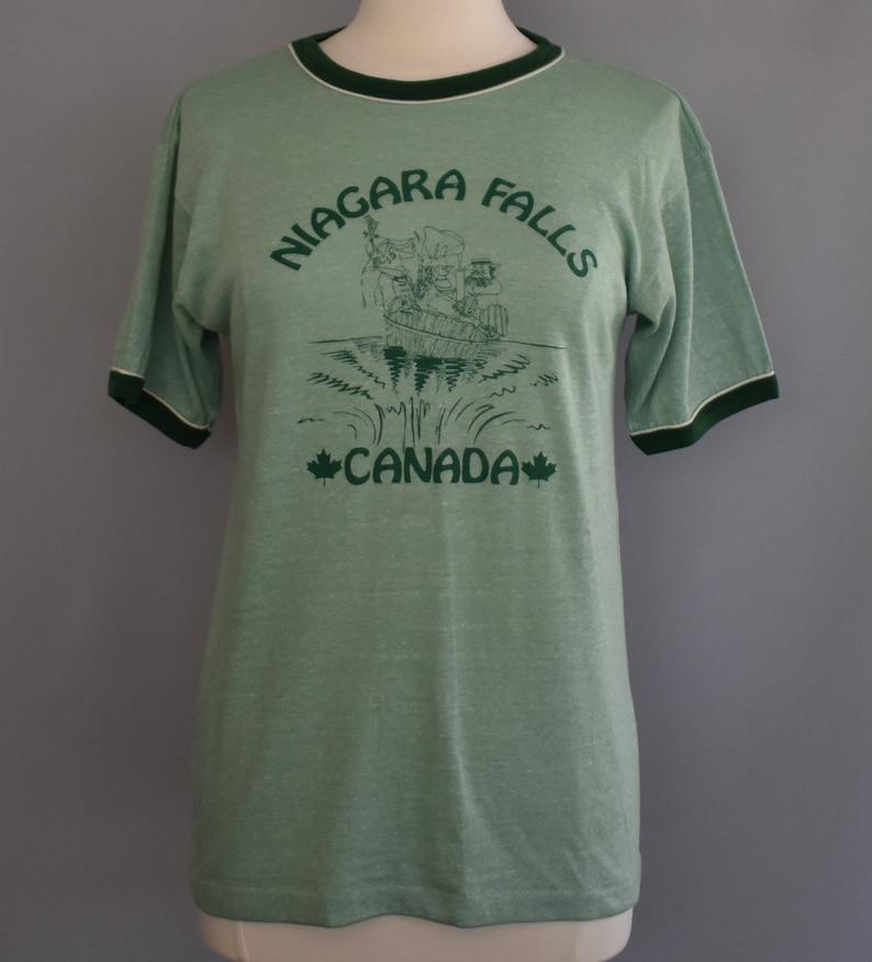 bca6a0e63769 Vintage 70s 80s Niagara Falls Ringer T-shirt 1970s 1980s