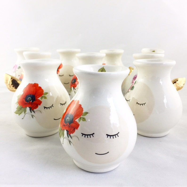 Personalized Vase Personalized Gift Ceramic Vase Ceramics And Pottery Vase With Gold Wings Ceramic