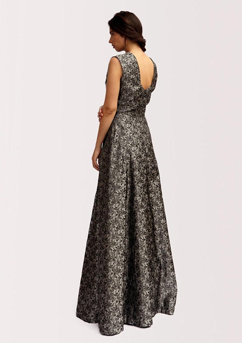 eb7bca7bb3765 Bridsmade Maxi Dress Elegant Cocktail Chic Prom Luxury Jacquard Open Back  One Piece Free Worldwide Shipping