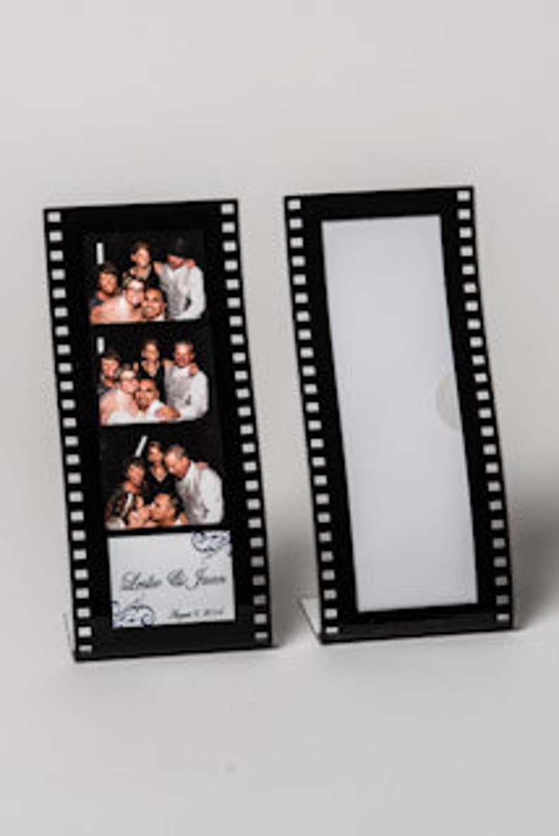 Wavy Film Strip Photo Booth Frame Lot of 200 Acrylic Picture Frames Hollywood frame curvy photo booth frame 2x6