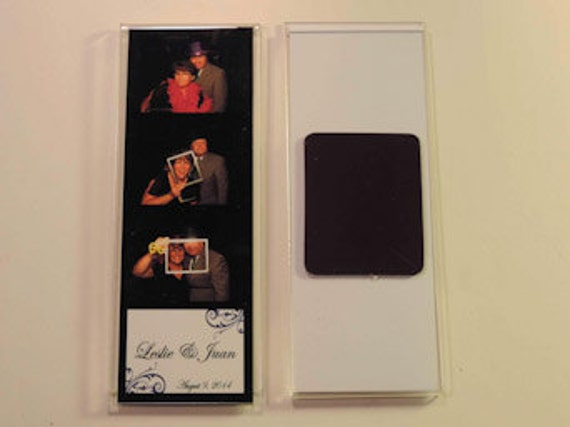 100 Acrylic magnet Photo Booth Frame 2x6 acrylic magnet picture frames w// insert
