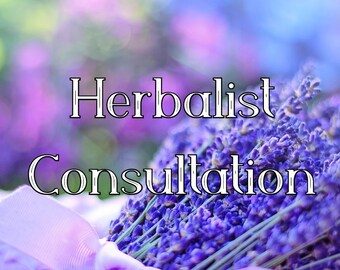Herbalist Consultation - New Clients - Holistic Health and Old Ways Advice with One Herbal Mix