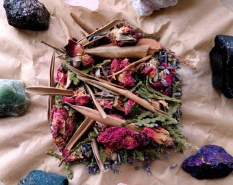 Mourning Mix - Grief Support & Death Incense - Loose Incense - Original Recipe - Handmade - Funeral, Ancestor, Recovery