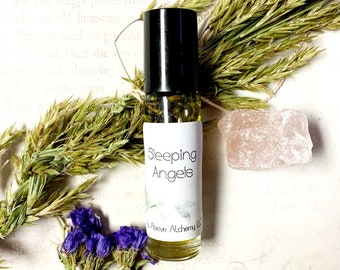 Sleeping Angels - Dreams, Sleep, and Relaxation Natural Remedy - Insomnia Herbal Oil - Sleep Medicine - Relaxing Meditation Oil - Roll On