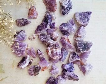 BANDED AMETHYST - Rough - Specimen Stone - Solar Plexus Chakra Crystal - Grounding, Goals, Motivation - Altar Decoration