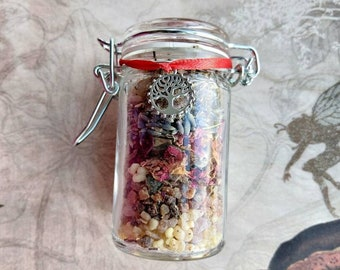 Nymph & Satyr Spell Jar - Sex Magick Herb Mix with Pink Opal - Spell Mix - Handmade - Herbology - Energy Connection, Manifestation