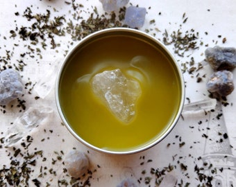 Freyja's Kiss Menthol Salve - Cooling Salve with Menthol Crystal-Infused Oil - Handmade - Self-Care