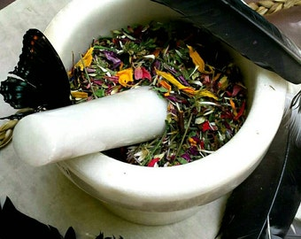 Autumn Pan - Home Grown Handmade Incense Blend - Grounding, Relaxation, Playfulness - Loose Incense