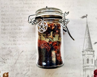 Do no Harm, but Take no Pain - Banishing & Exorcism Spell Jar - Herbal with Obsidian - Spell Mix - Protection, Banishing - Handmade