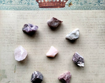 Self-Love Crystal Set - Rough Stones - Chakra Alignment - Worry Stone - Meditation Crystal Grid