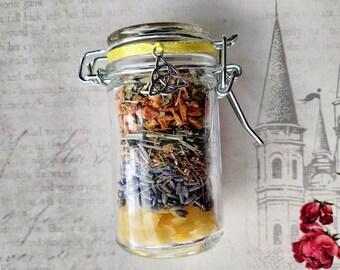 Jar of Sunshine - Happiness & Peace Spell Jar - Herb Mix with Quartz Point - Spell Mix - Happiness, Peace, Harmony, Home Peace - Handmade