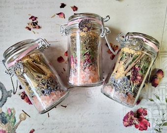 Heart Mender - Grief, Heartbreak, Loss Support Spell Jar - Herb Mix with Rose Quartz - Spell Mix - Handmade
