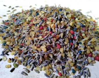 BULK 1 lb Three Kings Mix - Sacred Offering and Cleansing Incense - Frankincense, Lavender, Myrrh, Benzoin - Loose Incense - Traditional