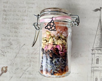 Mercy - Self-Love Spell Jar - Herb Mix with Pink Opal - Spell Mix - Mojo Jar - Handmade - Love, Happiness, Acceptance