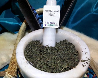 Homegrown Peppermint - Mentha piperita - Incense Supplies - Natural Herbs - Hand Harvested - DIY Witchcraft Supplies
