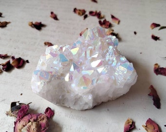 Angel Aura Quartz - Rainbow Quartz - Specimen Stone - Peace, Cleansing, Meditation - Higher Self Work - Reiki Crystal Healing