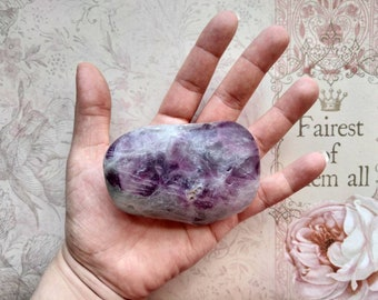 FLUORITE - Home tumbled, Hand-Polished - Non-Toxic Finish - Worry Stone - Meditation Stone - Spiritual - Witchcraft