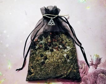 Witch's Shield Sachet - Exorcism, Curse Breaker, and Black Magick Protection Sachet - Herbal Sachet - Protection