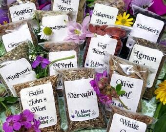 DIY Spiritual Healing Herbs - 14 Count - DIY Incense, Potion, Spell - Herbs & Resins - Witchcraft Supplies - Beginner Herbs
