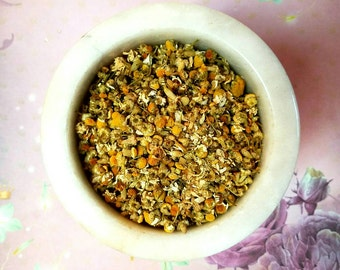 Homegrown Chamomile Flowers - Magickal Herb - Sleep, Money, Hex Breaker - Incense Supplies - Herbology - DIY Incense - Witchcraft