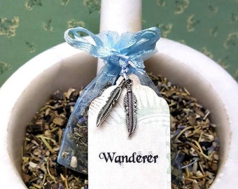 Wanderer - Travel & Car Protection Sachet - Herbal Sachet - Aromatherapy - Witchcraft - Spirituality - Carry Sachet