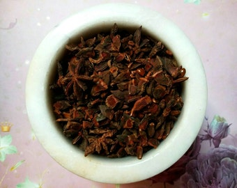 Chinese Star Anise - Aniseed - Illicium verum - Magickal Herb - Protection, Purification - Incense Supplies - Herbalist -DIY Incense