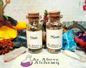 Sun and Moon Loose Incense - Morning and Evening Ritual Set - Original Recipe - Handmade - Astrology