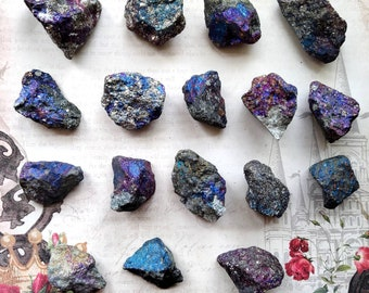 PEACOCK ORE (Bornite) - Rough - Specimen Stone - Solar Plexus Chakra Crystal - Cleansing, Balance, Grounding - Crystal Grid - Palm Stone