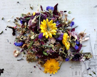 Wild Faerie - Homegrown Handmade Floral Incense Blend - Faeries, Happiness, Playfulness - Loose Incense