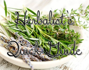Herbalist's Quick Guide - PDF - Magickal Uses of Herbs - Book of Shadows Insert - Witchcraft Spells - Ritual Addition - Green Hedge Witch