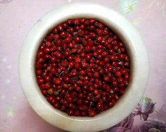 Homegrown Rose Hips - Wild Grown - Incense Supplies - Natural Sacred Herbs - Hand Harvested - Organic