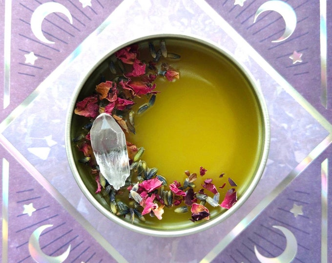 Featured listing image: Moon Time Salve - Relaxing Menstrual Cramp Salve with Herb-Infused Oil - Handmade - Self-Care
