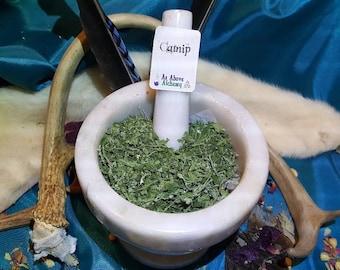 Homegrown Catnip - Nepeta cataria - Love, Beauty, Happiness, Cat Magic - Magickal Herb - Incense Supplies - Alter Herb -DIY Incense