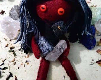 Hektra the Hex Breaker - Herb-stuffed Poppet - Curse and Hex Breaker Voodoo Doll with Taglock Pouch - Spirit Doll - Poppet - Banishing
