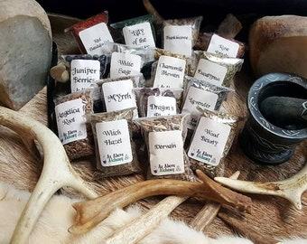 DIY Beginning Witchcraft Set of Herbs - 15 Count - DIY Incense, Potion, Spell - Herbs & Resins - Witchcraft Supplies - Beginner Herbs