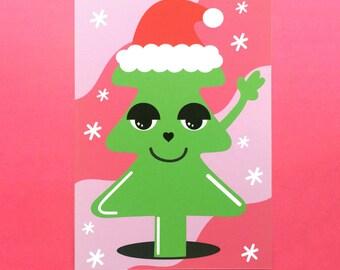 Peace Christmas Tree Card