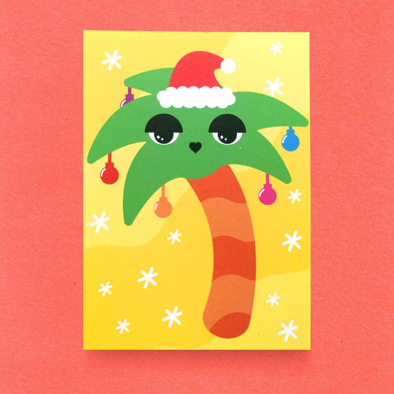 Palm Tree Christmas Card   Etsy