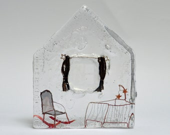 New Arrival : cast glass and wire artwork. REDUCED PRICE!